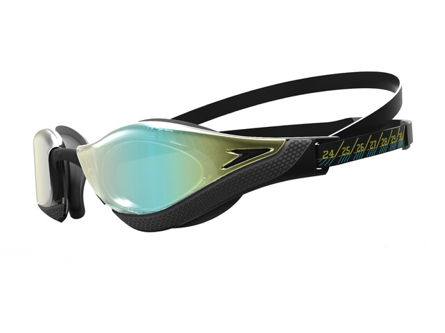 speedo Fastskin Pure Focus Mirror Lunettes de natation, black/cool grey/blue/gold